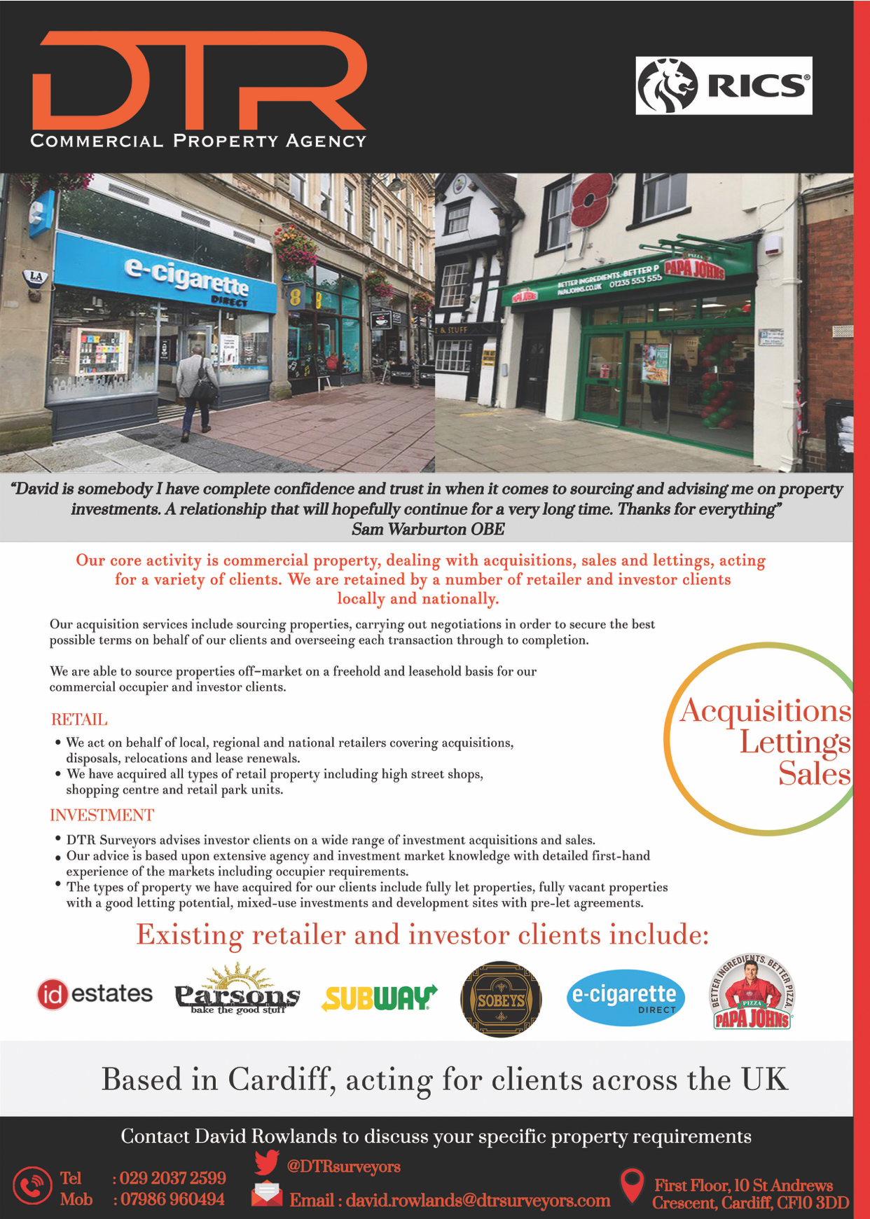 DTR Surveyors | Commercial Property Agents & Investments in Cardiff